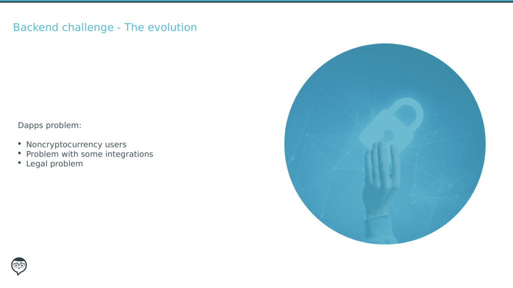 Backend challenge - The evolution Dapps problem...