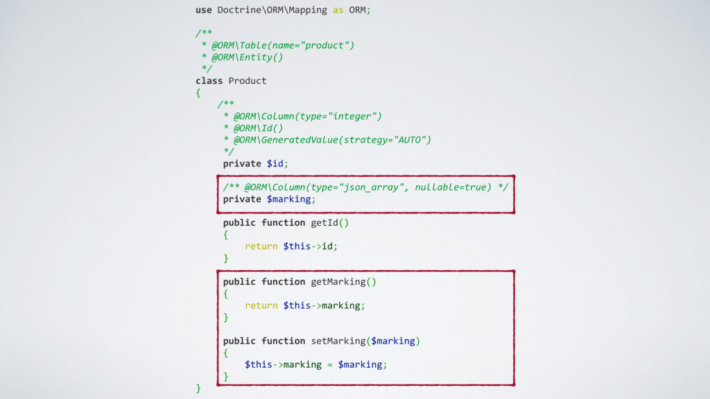 use Doctrine\ORM\Mapping as ORM; /** * @ORM\Tab...