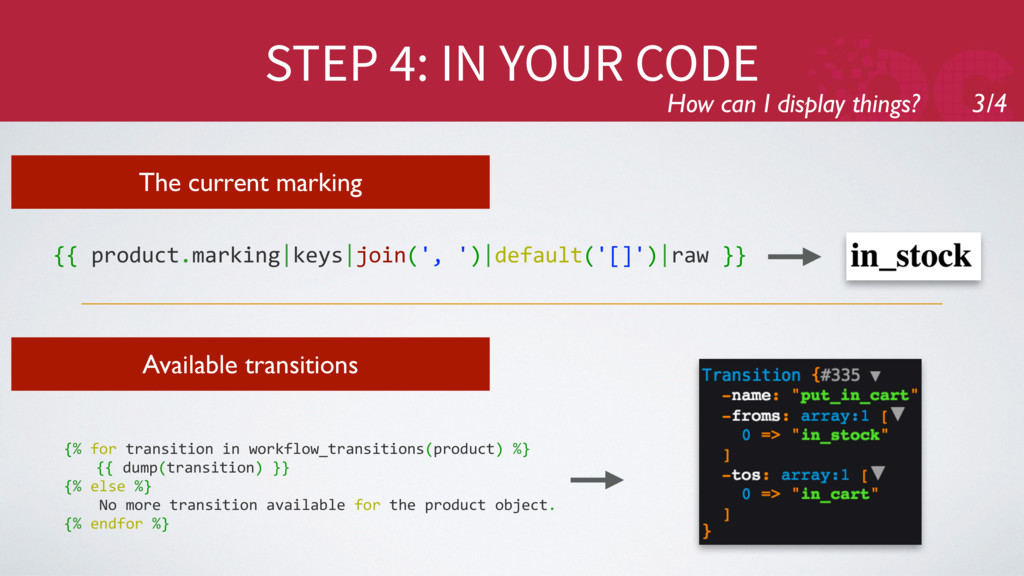 STEP 4: IN YOUR CODE How can I display things? ...