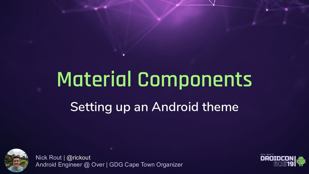 Material Components Setting up an Android theme...