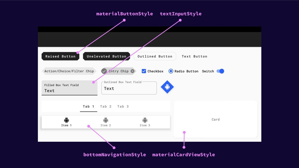 materialButtonStyle materialCardViewStyle textI...