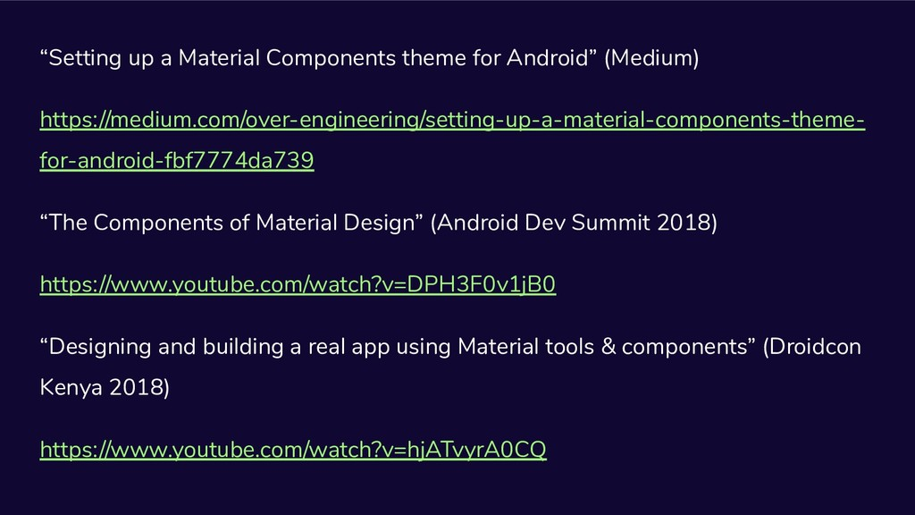 """""""Setting up a Material Components theme for And..."""