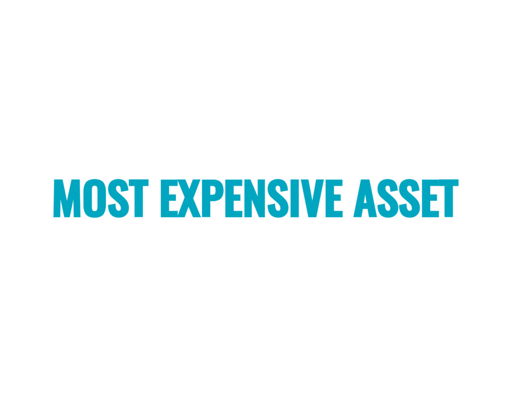 MOST EXPENSIVE ASSET