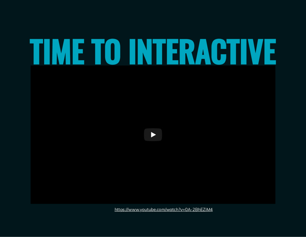 TIME TO INTERACTIVE Interactivity Matters https...