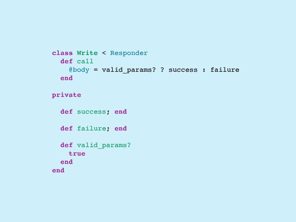 class Write < Responder def call @body = valid_...