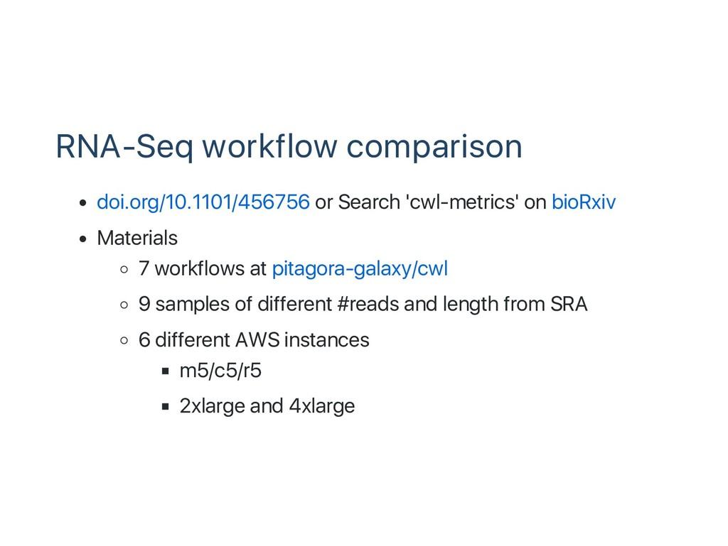 RNA‑Seq workflow comparison doi.org/10.1101/456...