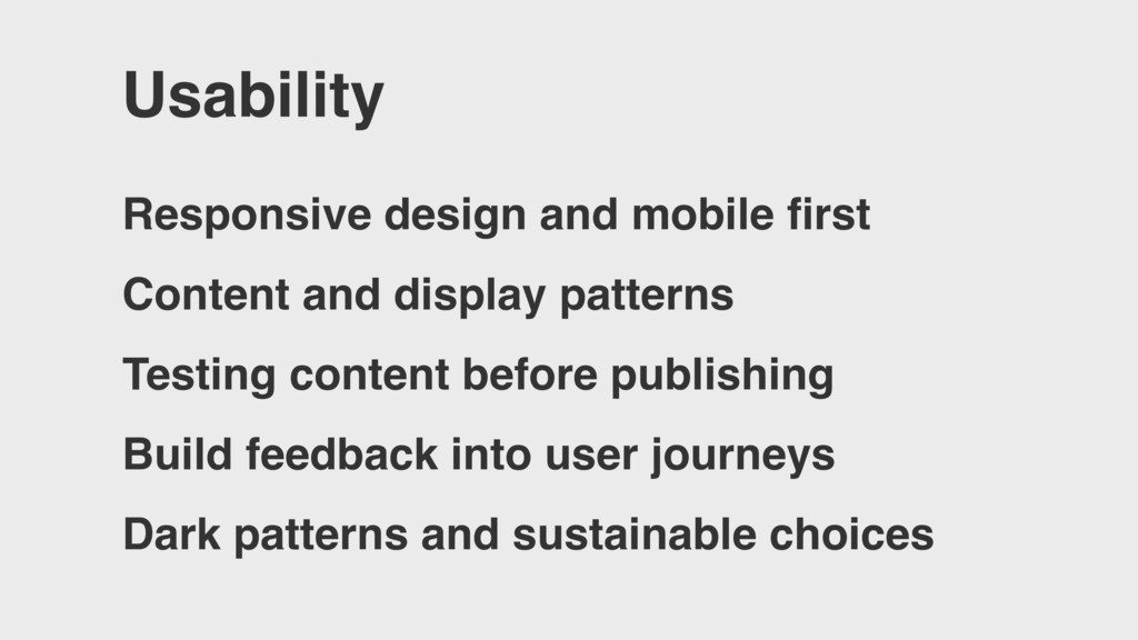 Usability Responsive design and mobile first Con...