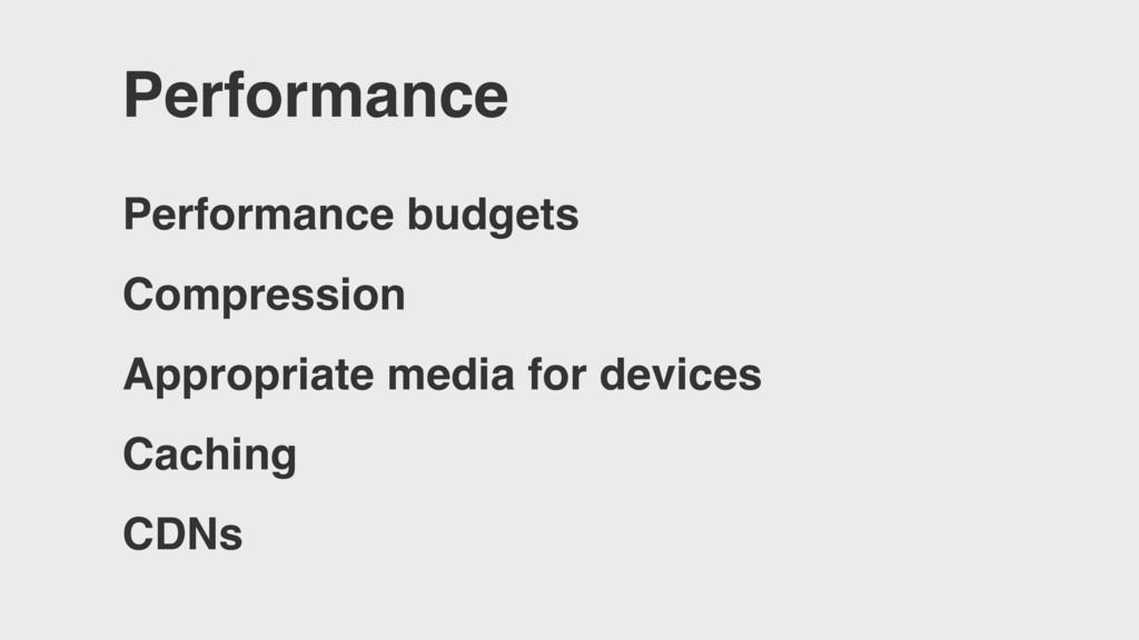 Performance Performance budgets Compression App...