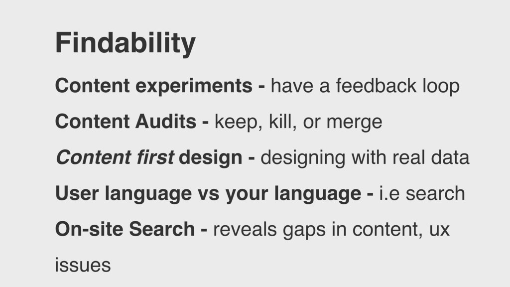 Findability Content experiments - have a feedba...