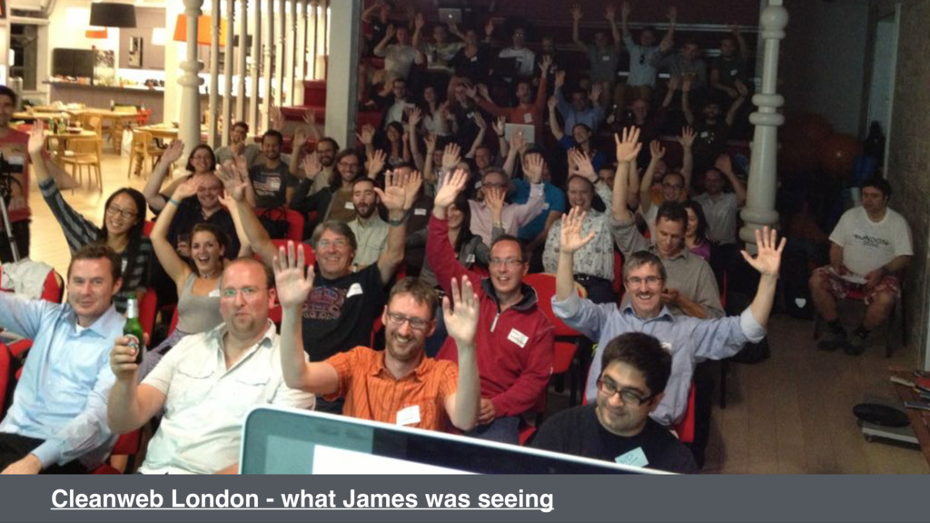 Cleanweb London - what James was seeing