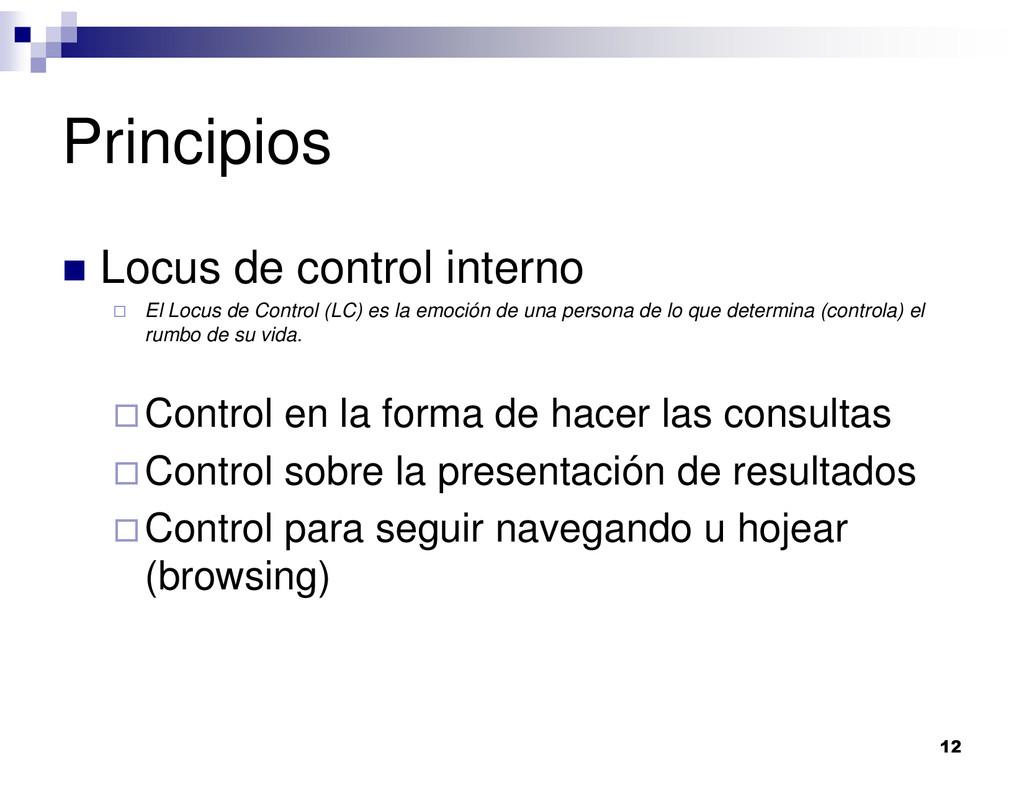 12 Principios Locus de control interno El Locus...