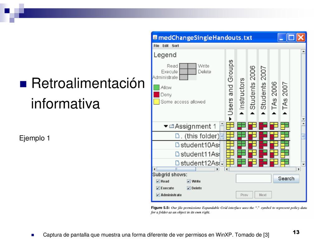 13 Retroalimentación informativa Ejemplo 1 Capt...