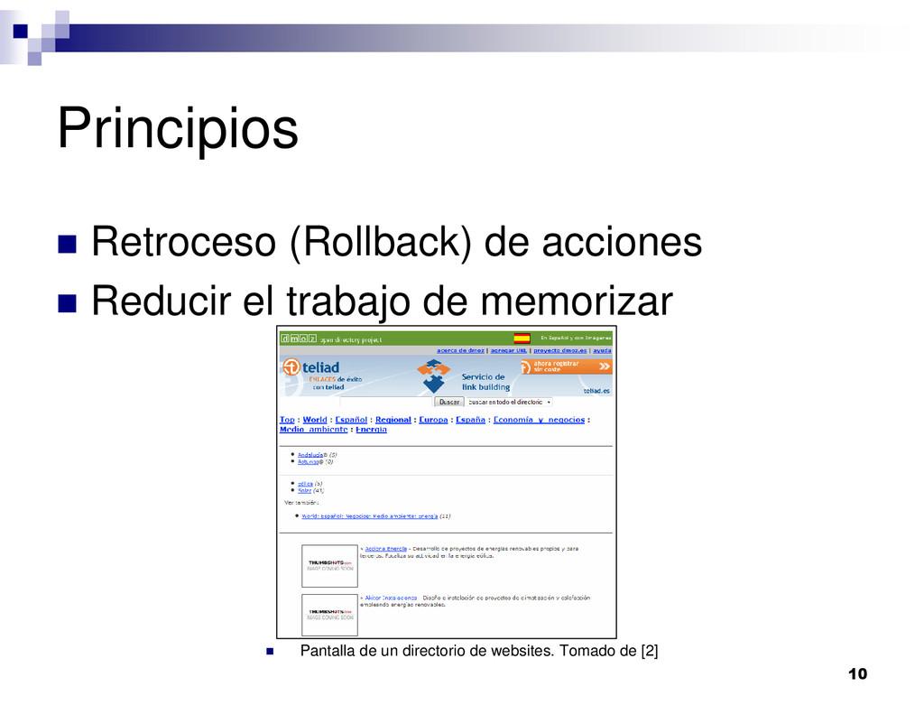 10 Principios Retroceso (Rollback) de acciones ...