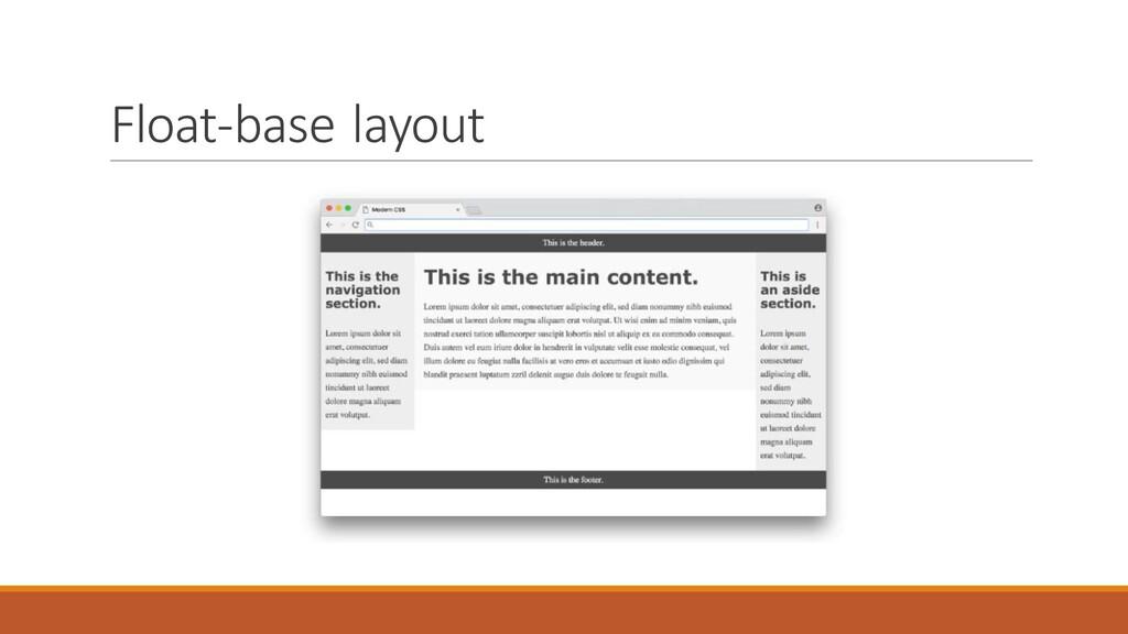 Float-base layout