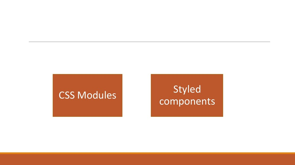 CSS Modules Styled components