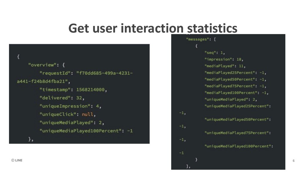 Get user interaction statistics