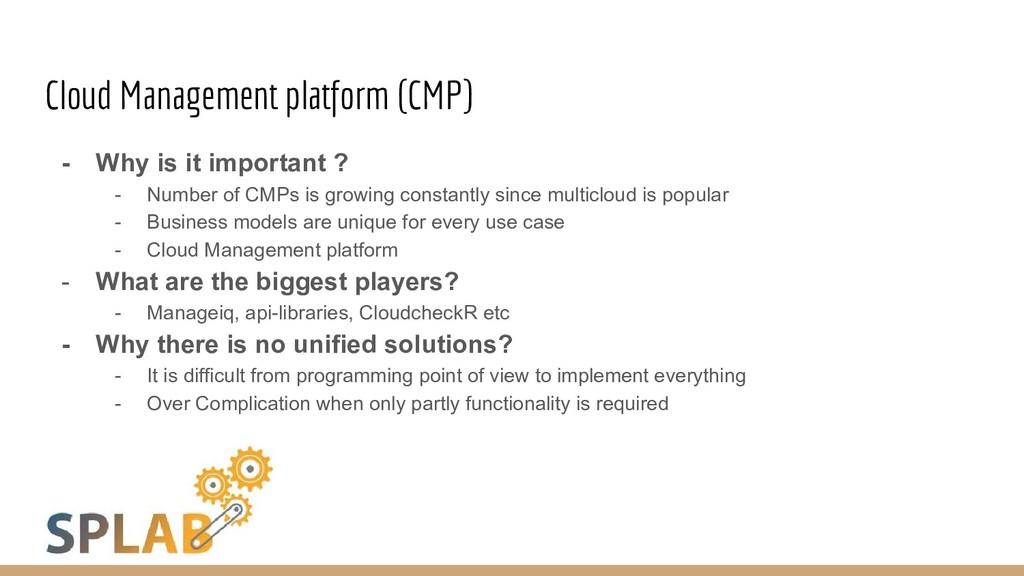 Cloud Management platform (CMP) - Why is it imp...