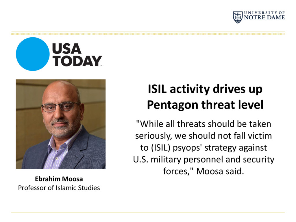 ISIL activity drives up Pentagon threat level E...