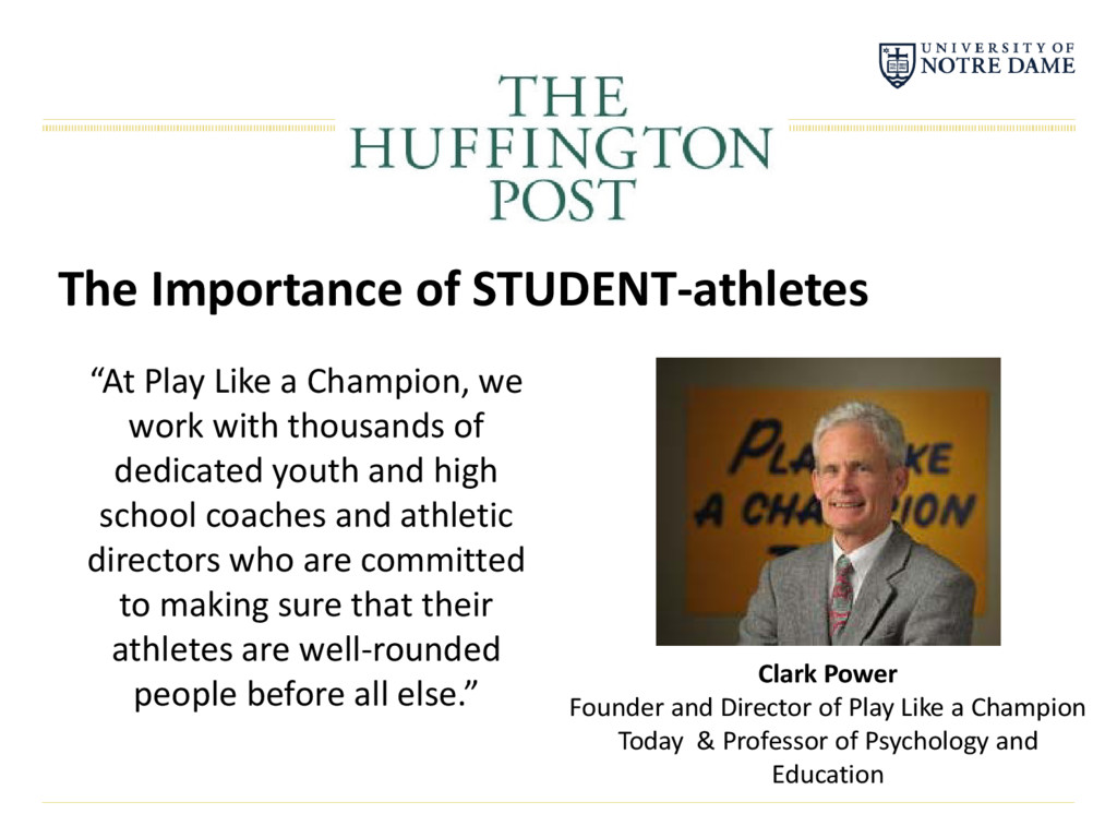 "The Importance of STUDENT-athletes ""At Play Lik..."