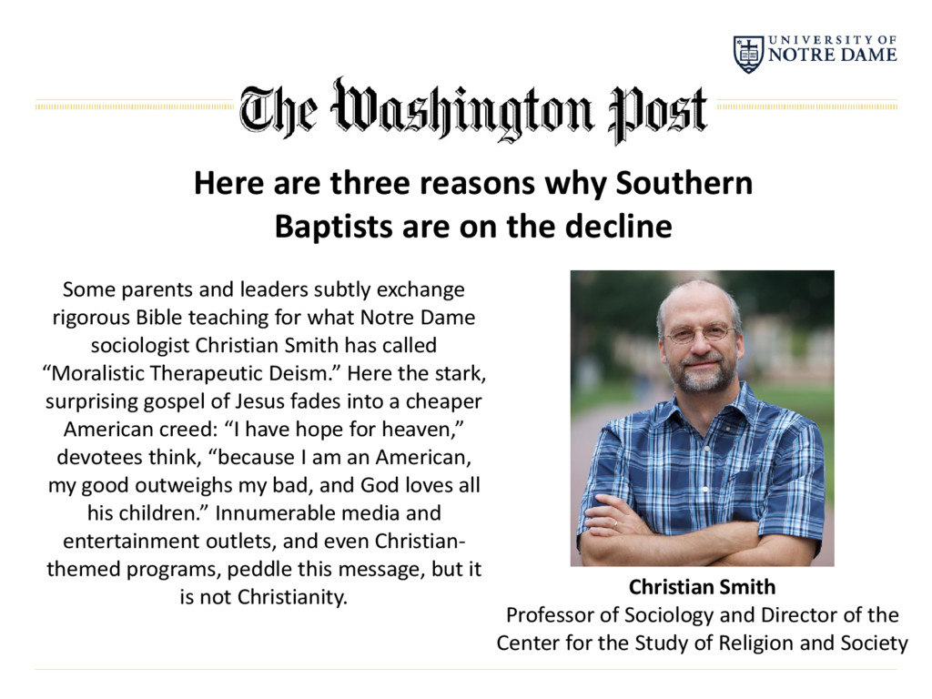 Here are three reasons why Southern Baptists ar...
