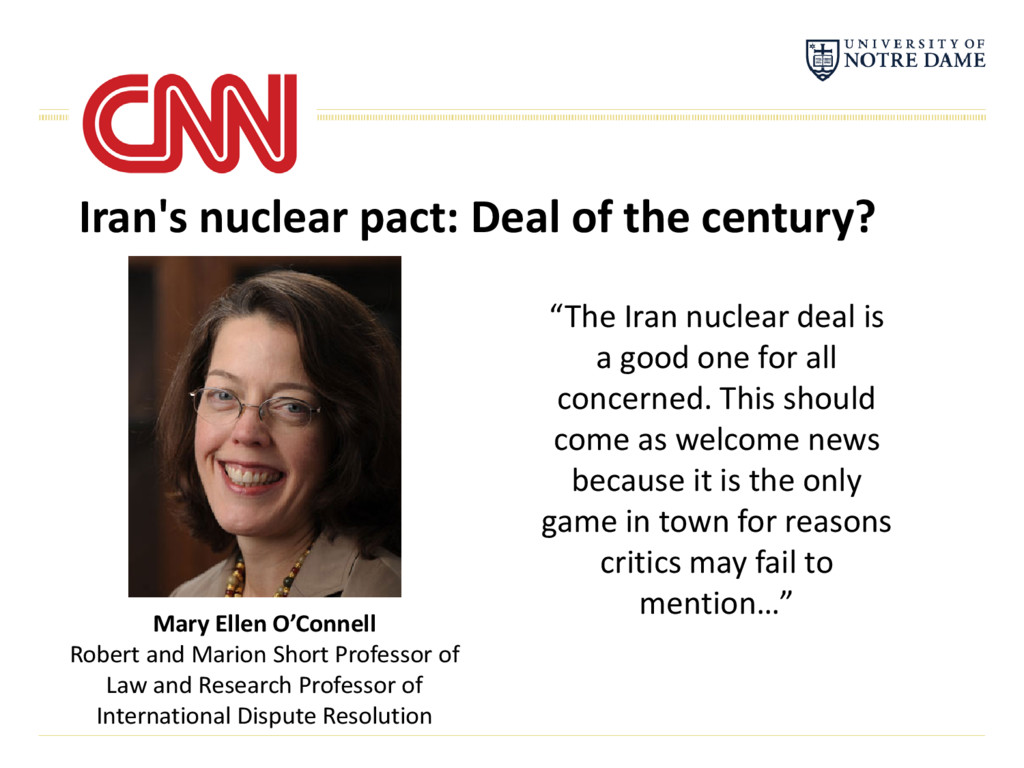 "Iran's nuclear pact: Deal of the century? ""The ..."