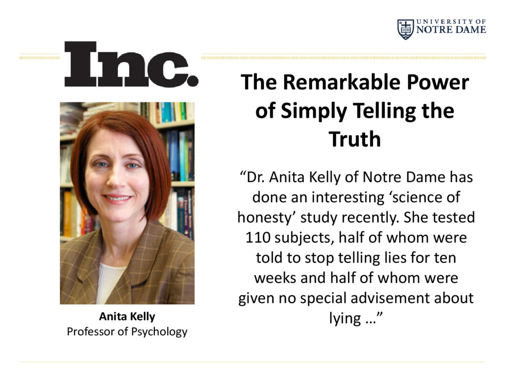 The Remarkable Power of Simply Telling the Trut...
