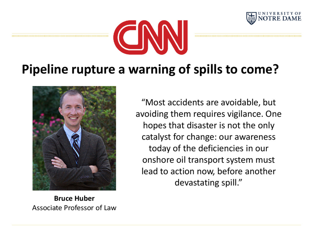 "Pipeline rupture a warning of spills to come? ""..."
