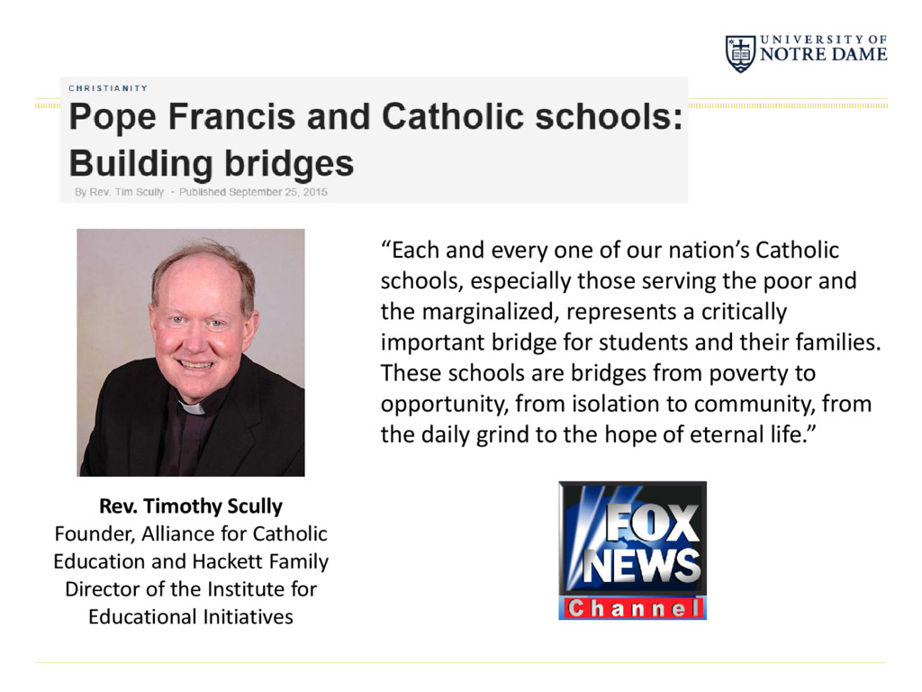 """Each and every one of our nation's Catholic sc..."