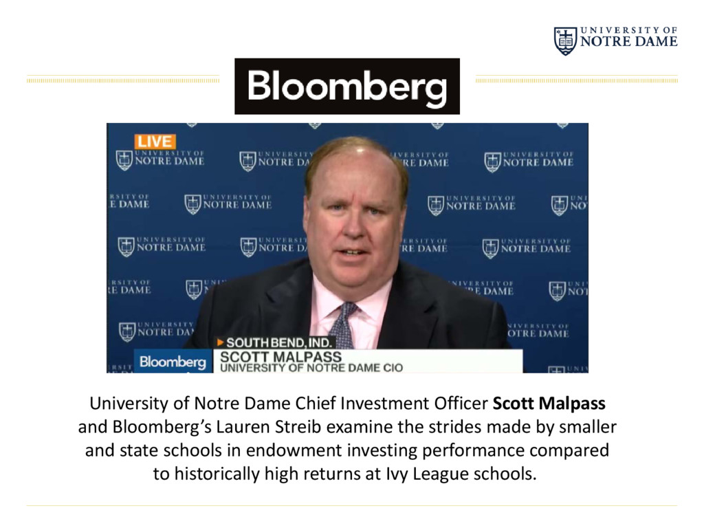 University of Notre Dame Chief Investment Offic...