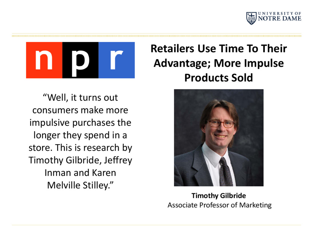Retailers Use Time To Their Advantage; More Imp...