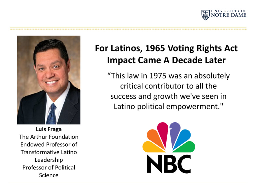 For Latinos, 1965 Voting Rights Act Impact Came...