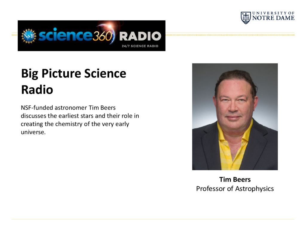Big Picture Science Radio NSF-funded astronomer...