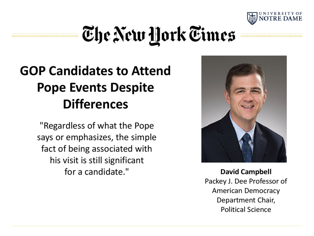 GOP Candidates to Attend Pope Events Despite Di...