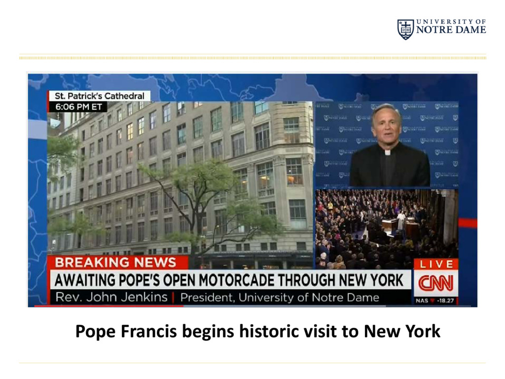 Pope Francis begins historic visit to New York