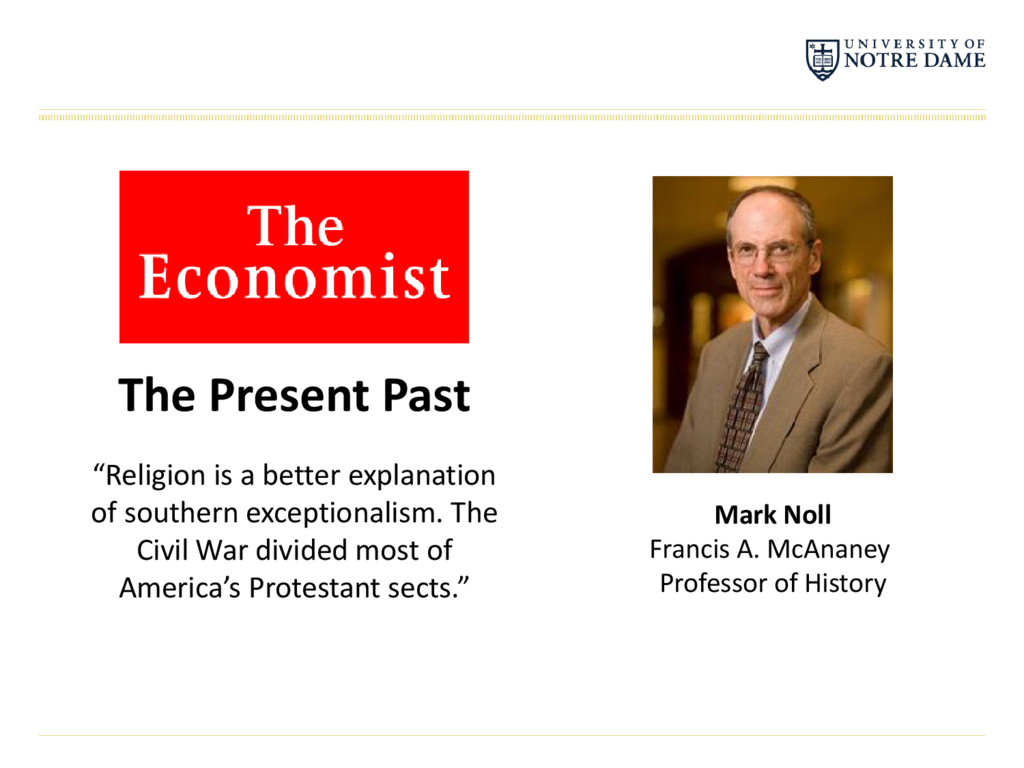 "The Present Past ""Religion is a better explanat..."