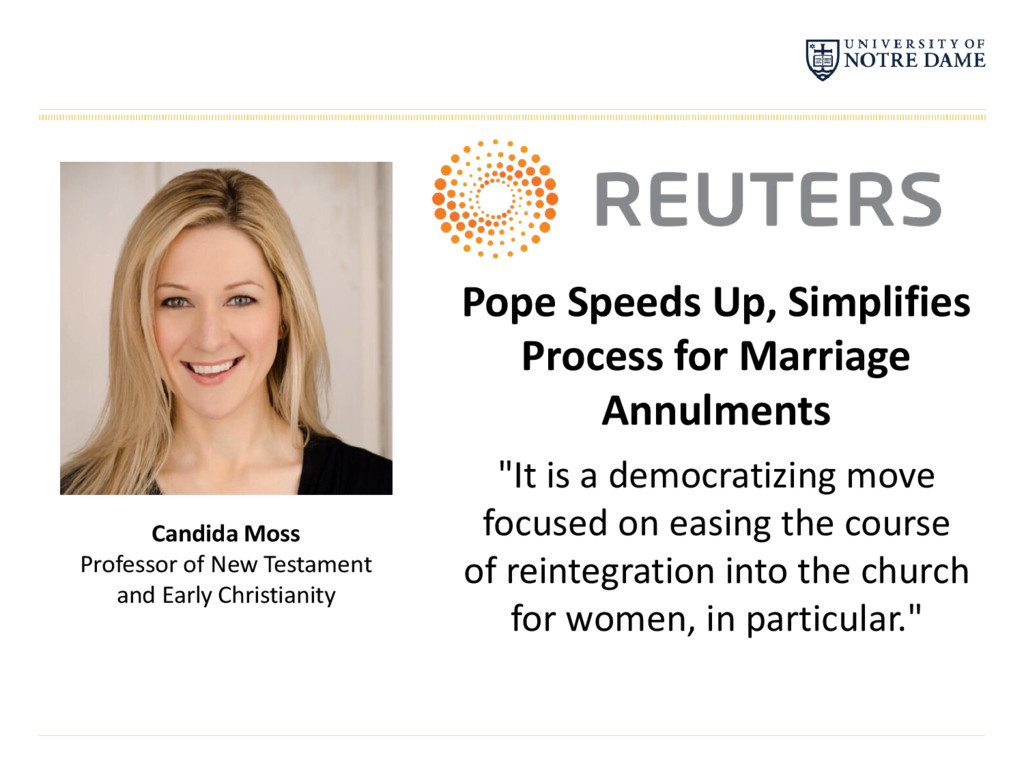 Pope Speeds Up, Simplifies Process for Marriage...
