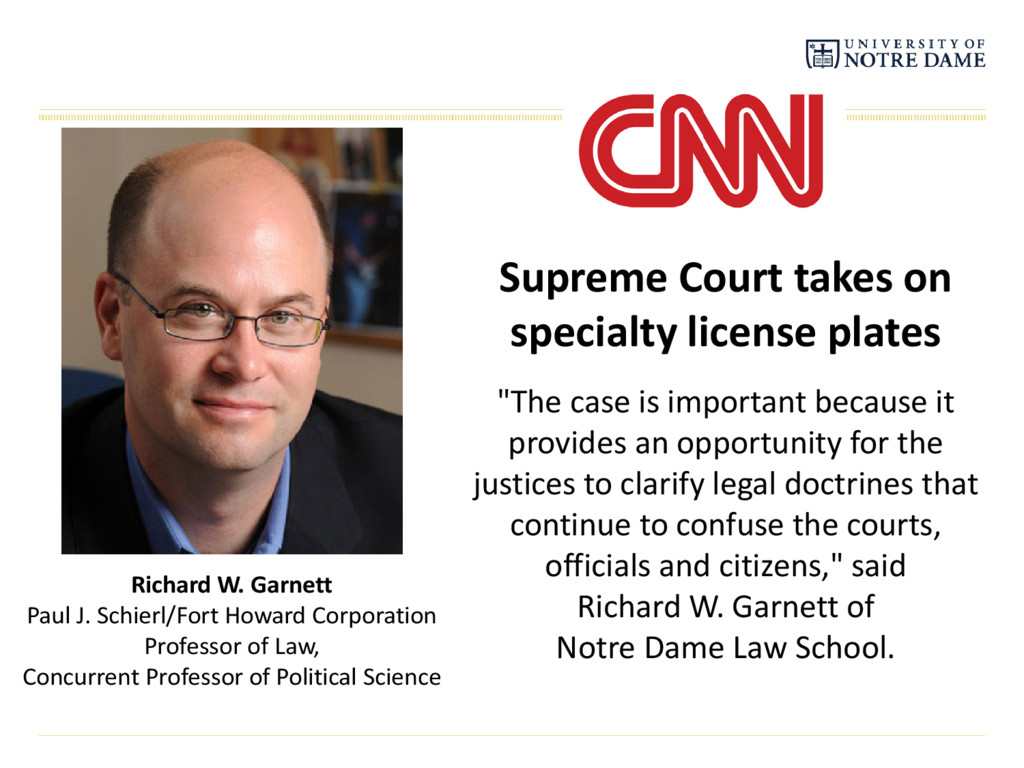 Supreme Court takes on specialty license plates...