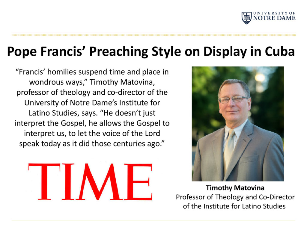 Timothy Matovina Professor of Theology and Co-D...