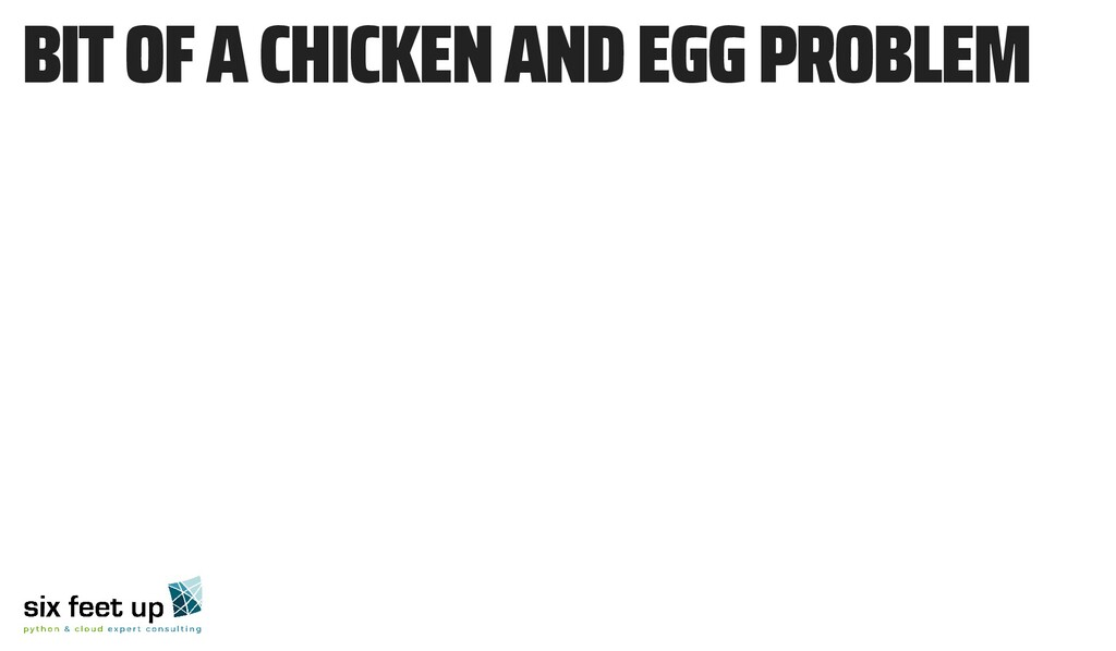 BIT OF A CHICKEN AND EGG PROBLEM