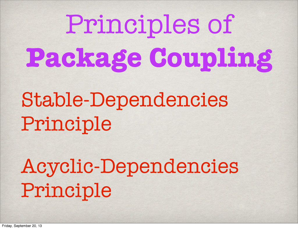 Principles of Package Coupling Acyclic-Dependen...