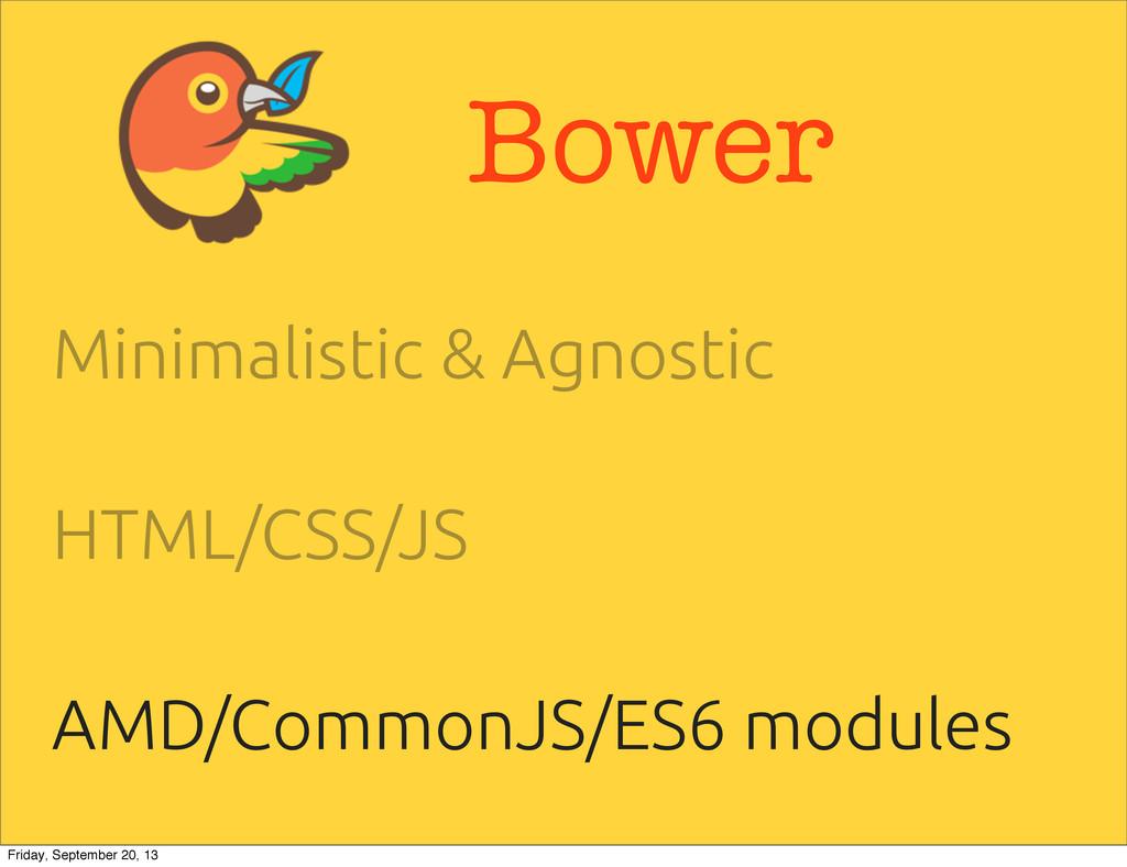 Bower Minimalistic & Agnostic HTML/CSS/JS AMD/C...