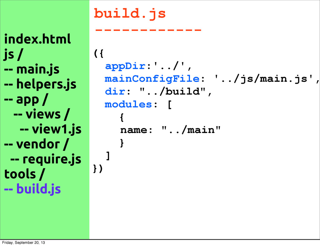build.js ------------ ({ appDir:'../', mainConf...