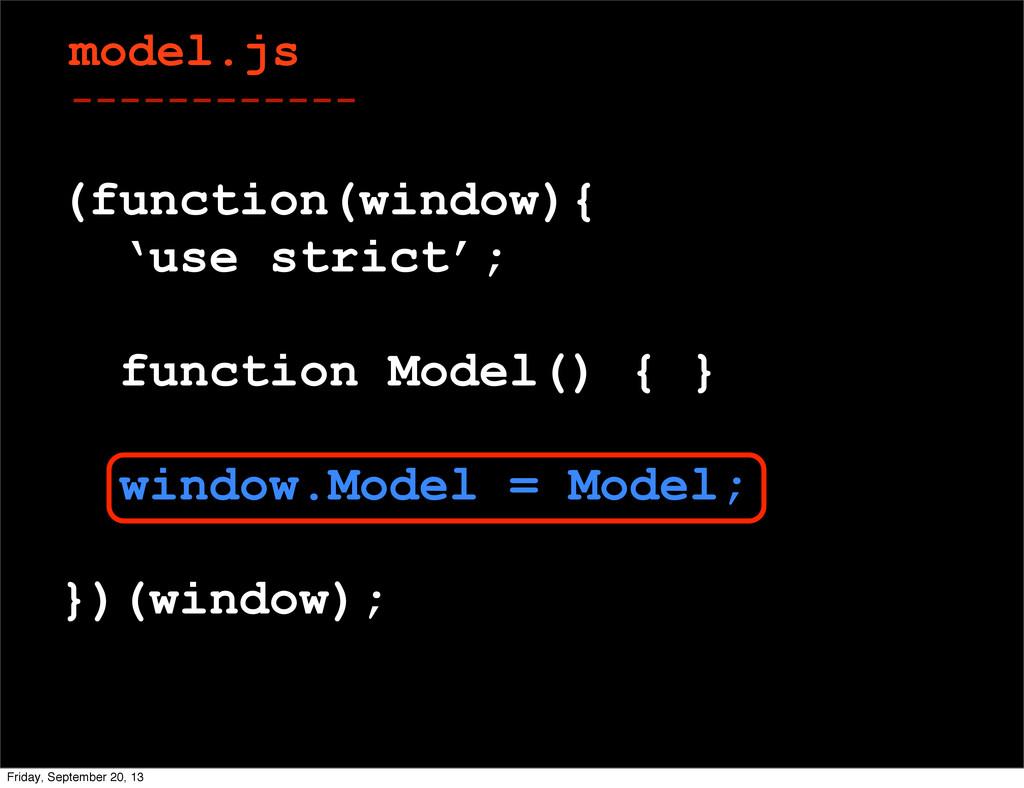 model.js ------------ (function(window){ 'use s...