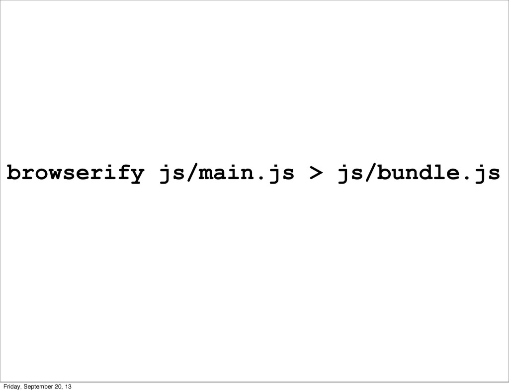 browserify js/main.js > js/bundle.js Friday, Se...