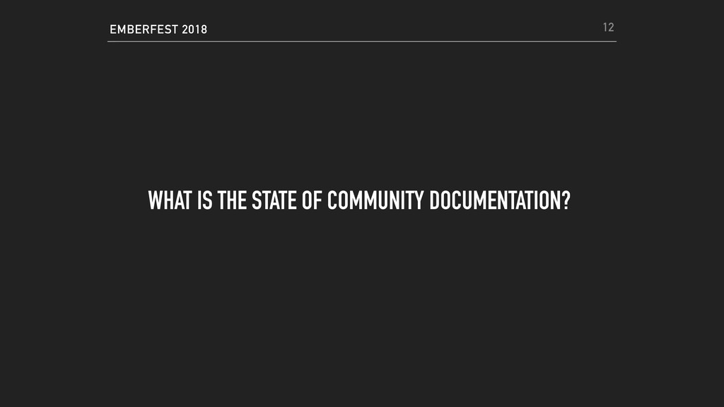 EMBERFEST 2018 WHAT IS THE STATE OF COMMUNITY D...