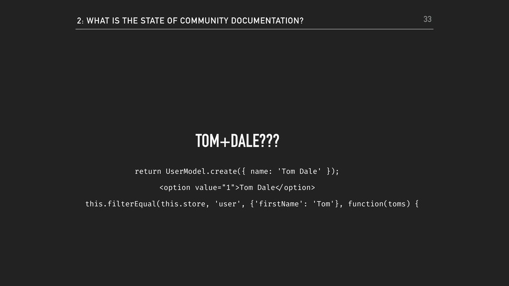 2: WHAT IS THE STATE OF COMMUNITY DOCUMENTATION...