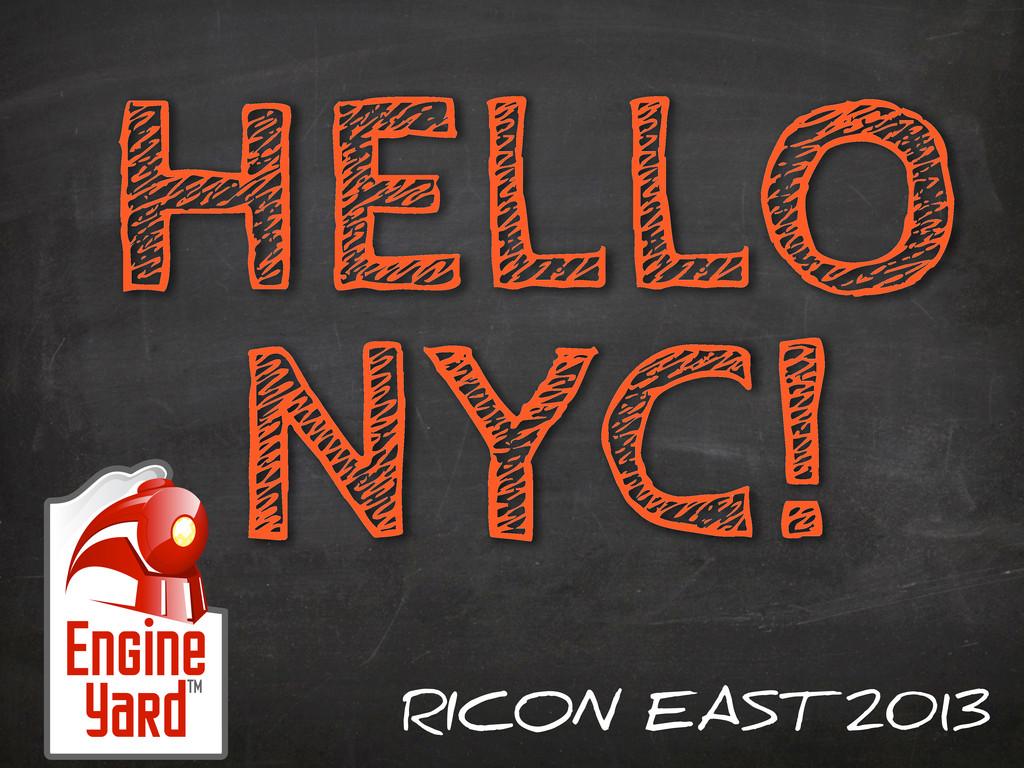 HELLO NYC! RICON EAST 2013