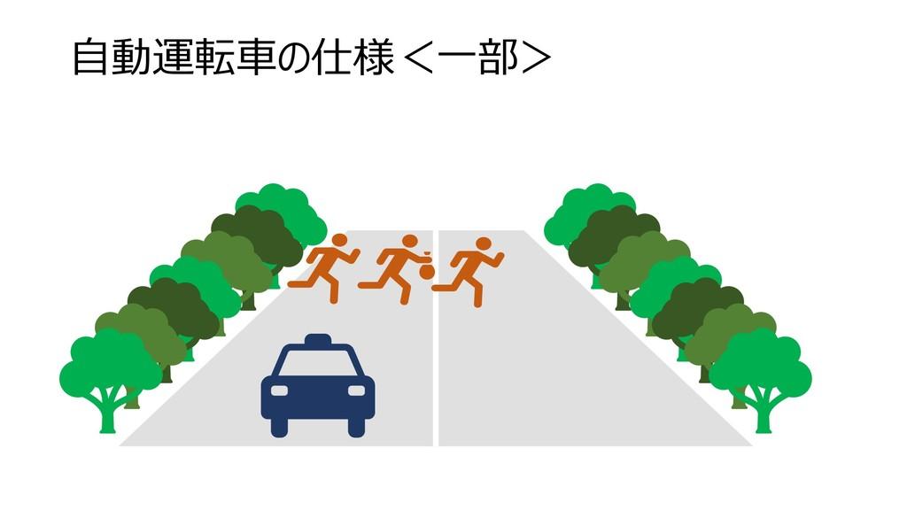 自動運転車の仕様<一部>