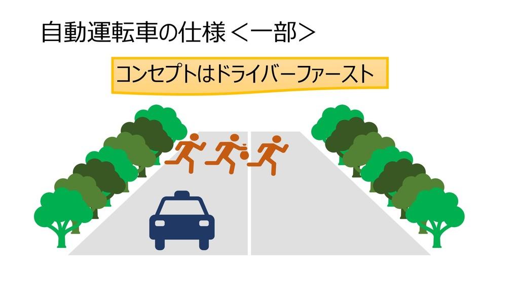 自動運転車の仕様<一部> コンセプトはドライバーファースト