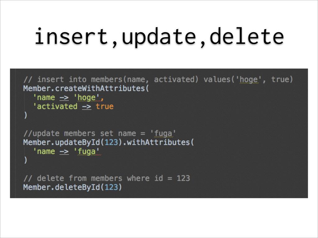 insert,update,delete